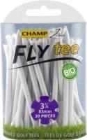 Champ: 25 x Fly Tee 8 cm blanco -