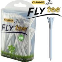 Champ: 30 x Fly Tee 7 cm blanco -