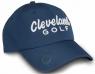 Cleveland: Gorra con Marcador Azul Marino Logo Blanco -