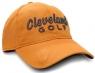 Cleveland: Gorra con Marcador Naranja Logo Negro -