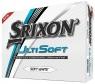 Srixon: 12 Bolas Ultisoft Blancas Personalizadas con Texto -