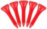 Masters: 50 Tees Plástico Rojos 3.2 cm -