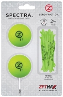 Zero Friction: Pack 2 Bolas + Tees Neon Lima -