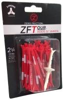 Zero Friction: 40 Tees 3 Prong 7 cm Rojos -