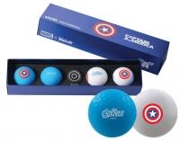 Volvik: Bolas Marvel Pack 4 Marcador Capitán América -