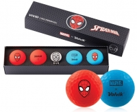 Volvik: Bolas Marvel Pack 4 Marcador Spiderman -