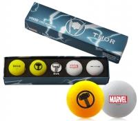 Volvik: Bolas Marvel Pack 4 Marcador Thor -