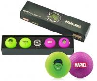 Volvik: Bolas Marvel Pack 4 Marcador Hulk -