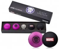 Volvik: Bolas Marvel Pack 4 Marcador Black Panther -