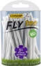 Champ: 25 x Fly Tee 8 cm blanco -
