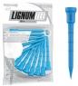 Lignum: 12 tees azules de 7 cm -