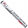 SuperStroke: Grip Traxion Tour 2.0 blanco/rojo para Putter -