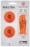 Zero Friction: Pack 2 Bolas + Tees Neon Naranja -