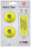Zero Friction: Pack 2 Bolas + Tees Neon Amarillo -